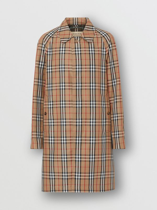 Vintage Check Car Coat in Archive Beige - Men | Burberry - cell image 3