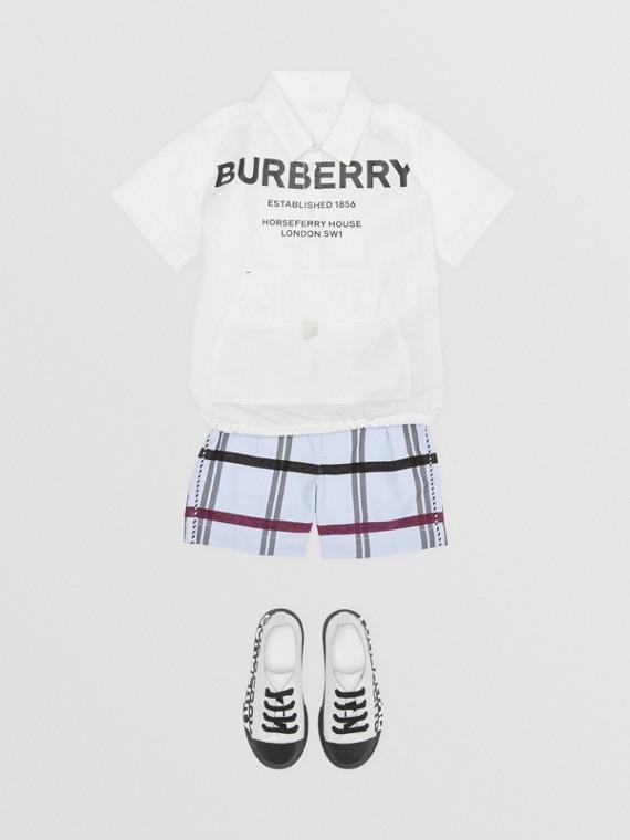 Chemise à manches courtes en coton Horseferry (Blanc)