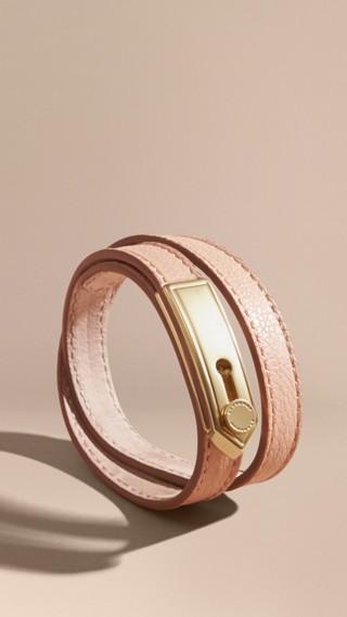 Bracelet double tour en cuir