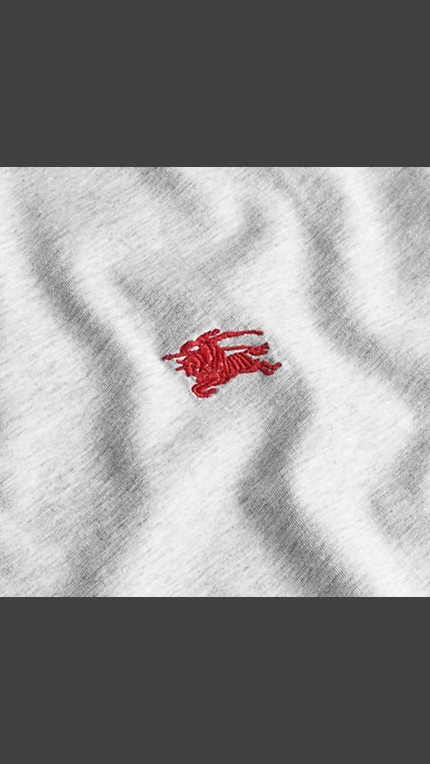 Pale grey melange Liquid-soft Cotton T-Shirt Pale Grey Melange - Image 2