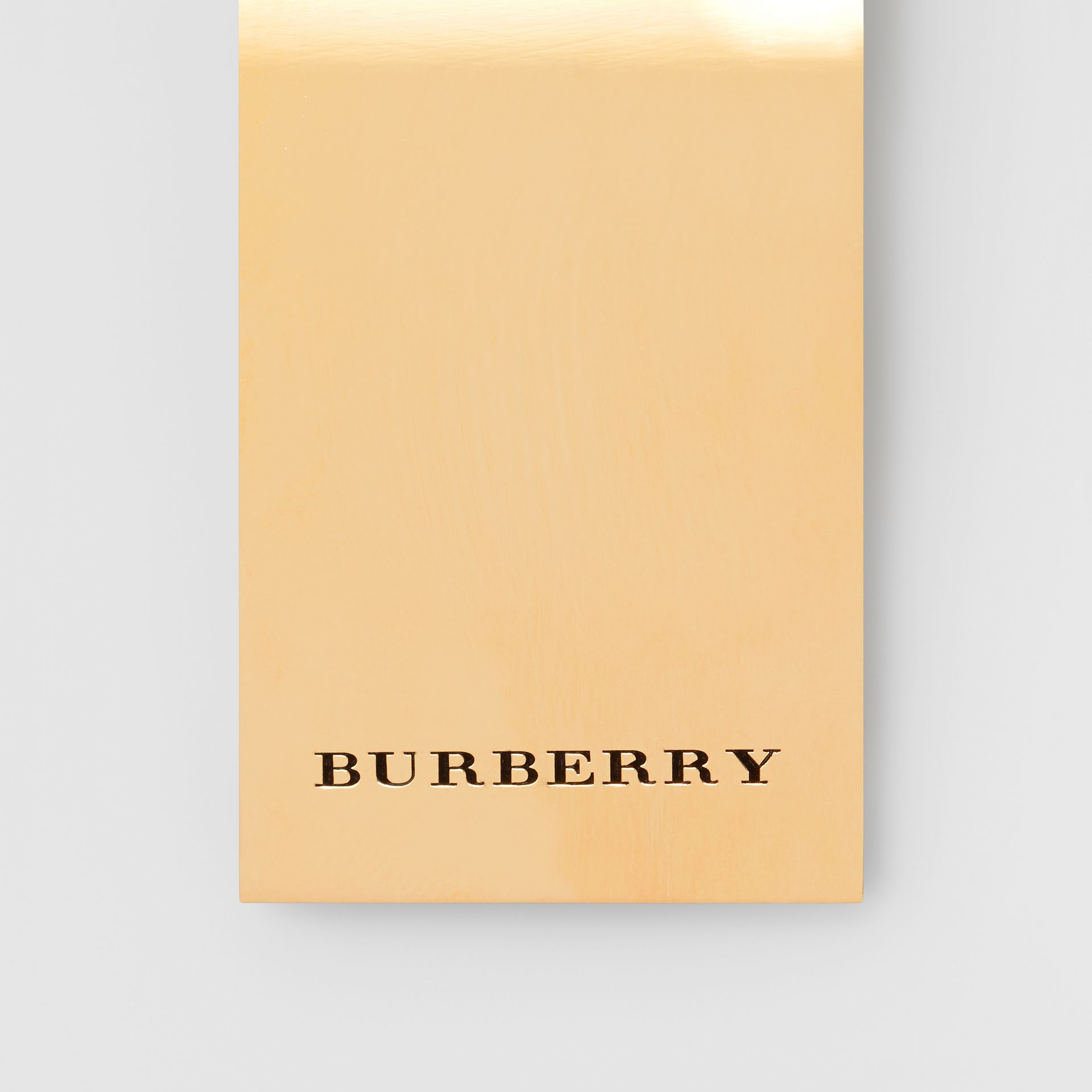Engraved Bronze Money Clip in Light Gold - Men | Burberry United States - gallery image 1