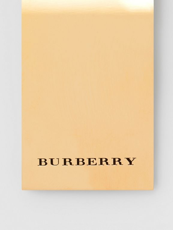 Engraved Bronze Money Clip in Light Gold - Men | Burberry Australia - cell image 1
