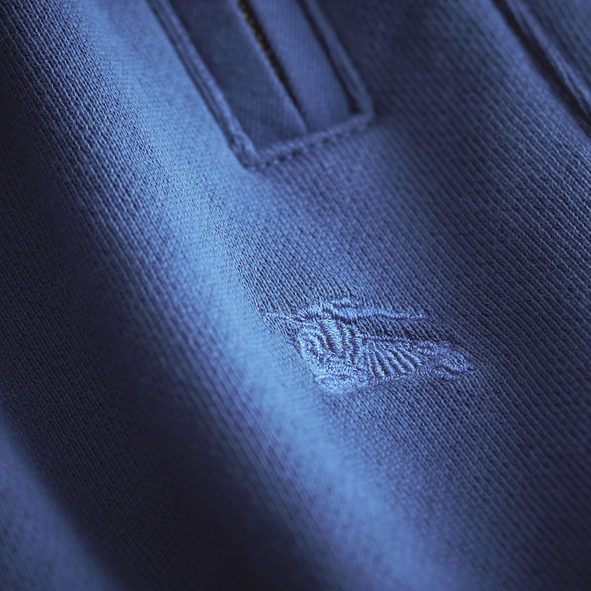 Drawcord Cotton Sweatpants in Marine Blue - Boy | Burberry - gallery image 1