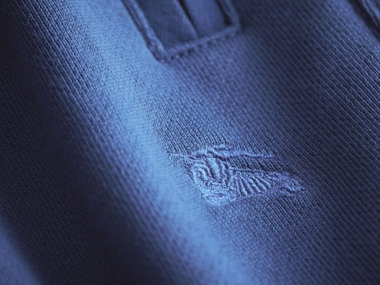 Drawcord Cotton Sweatpants in Marine Blue - Boy | Burberry - cell image 1