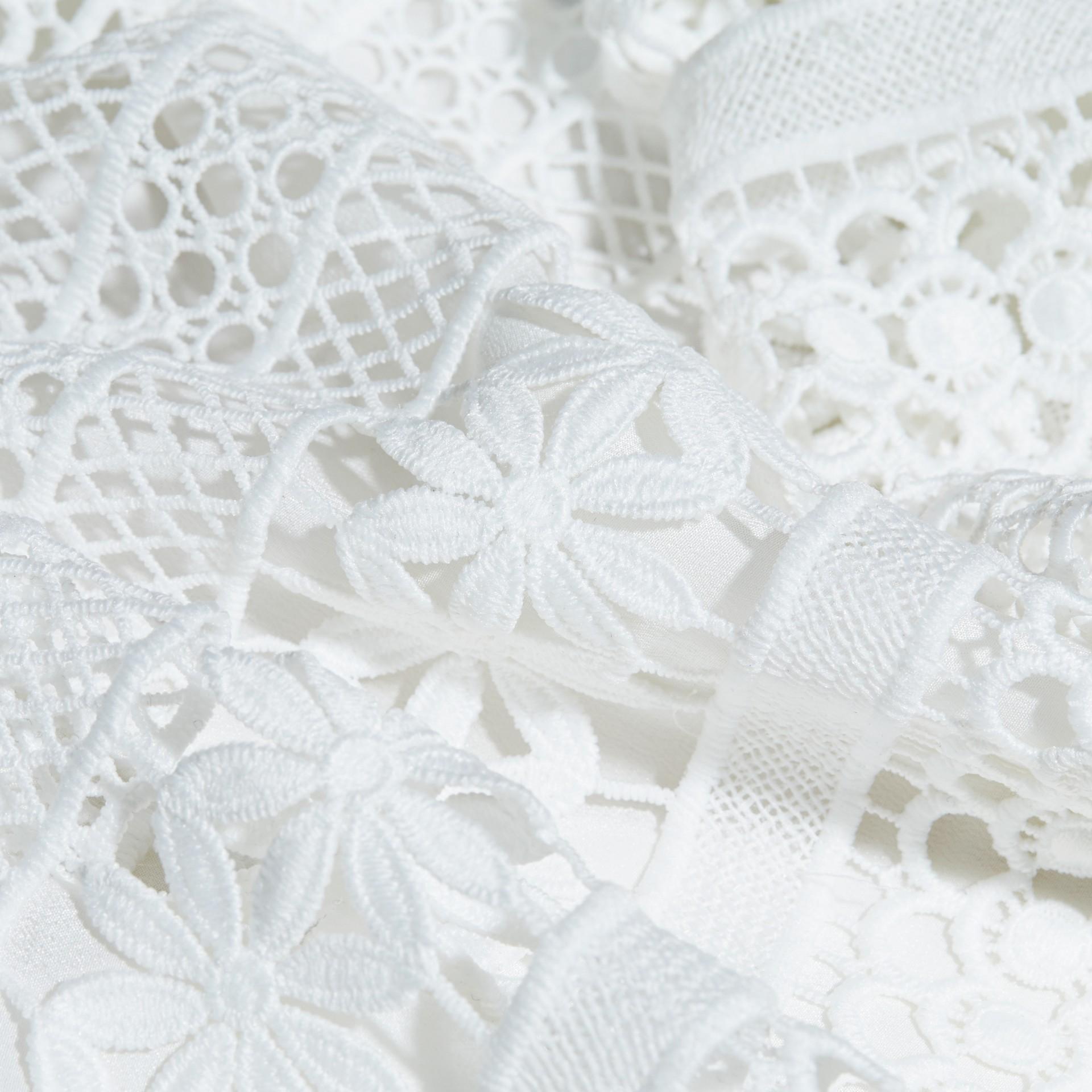 Macramé Lace Dropped-waist Dress - gallery image 2