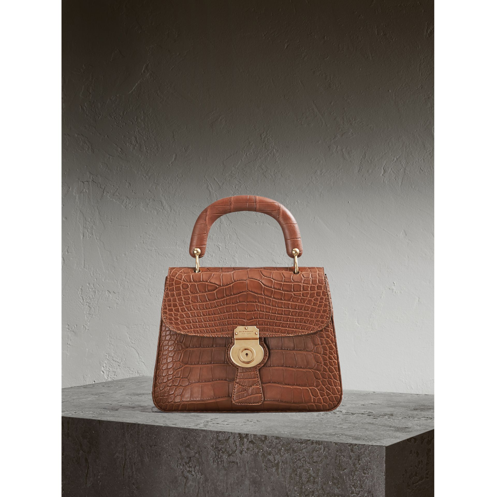 The Medium DK88 Top Handle Bag in Alligator - Women | Burberry - gallery image 1