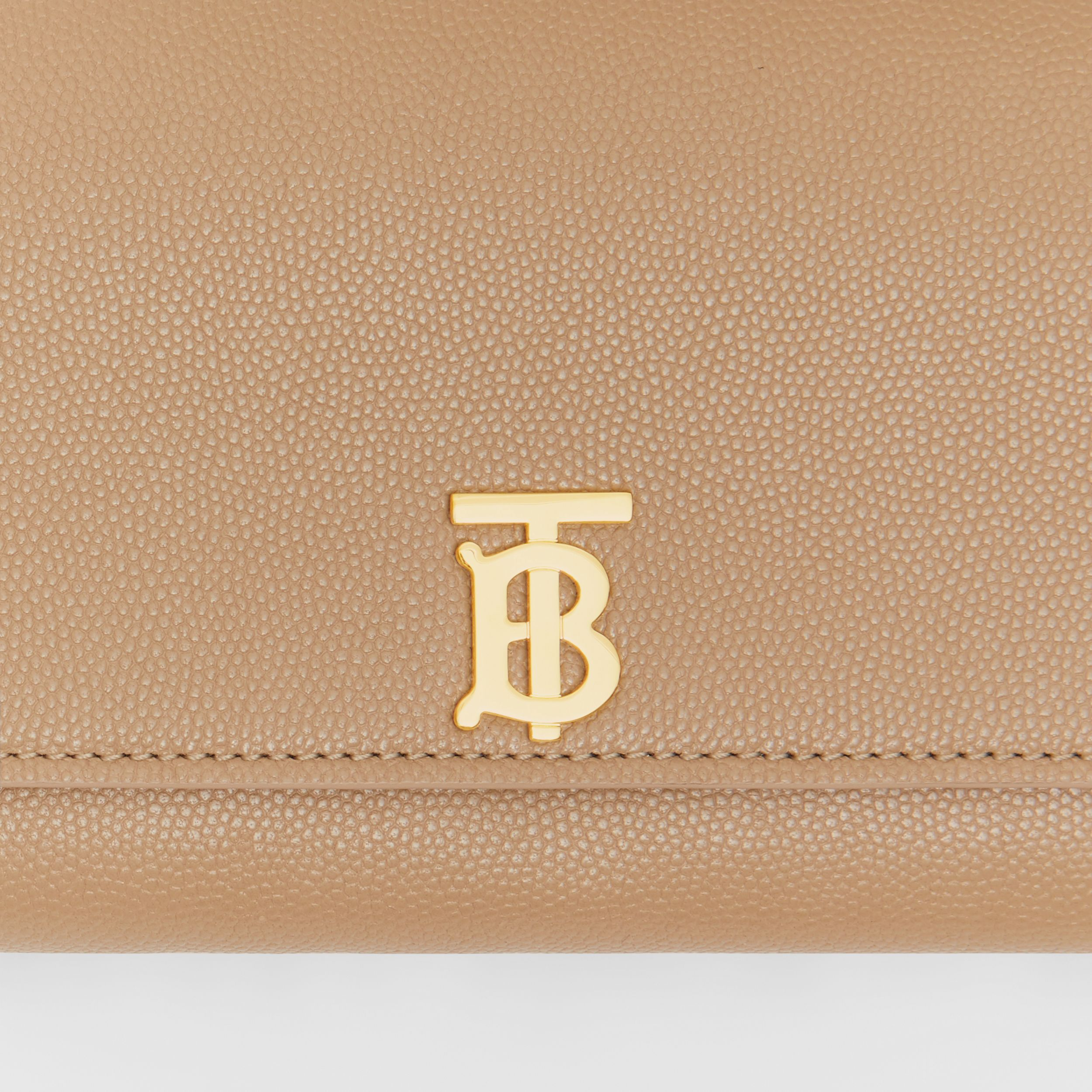 Monogram Motif Grainy Leather Continental Wallet in Archive Beige - Women | Burberry - 2
