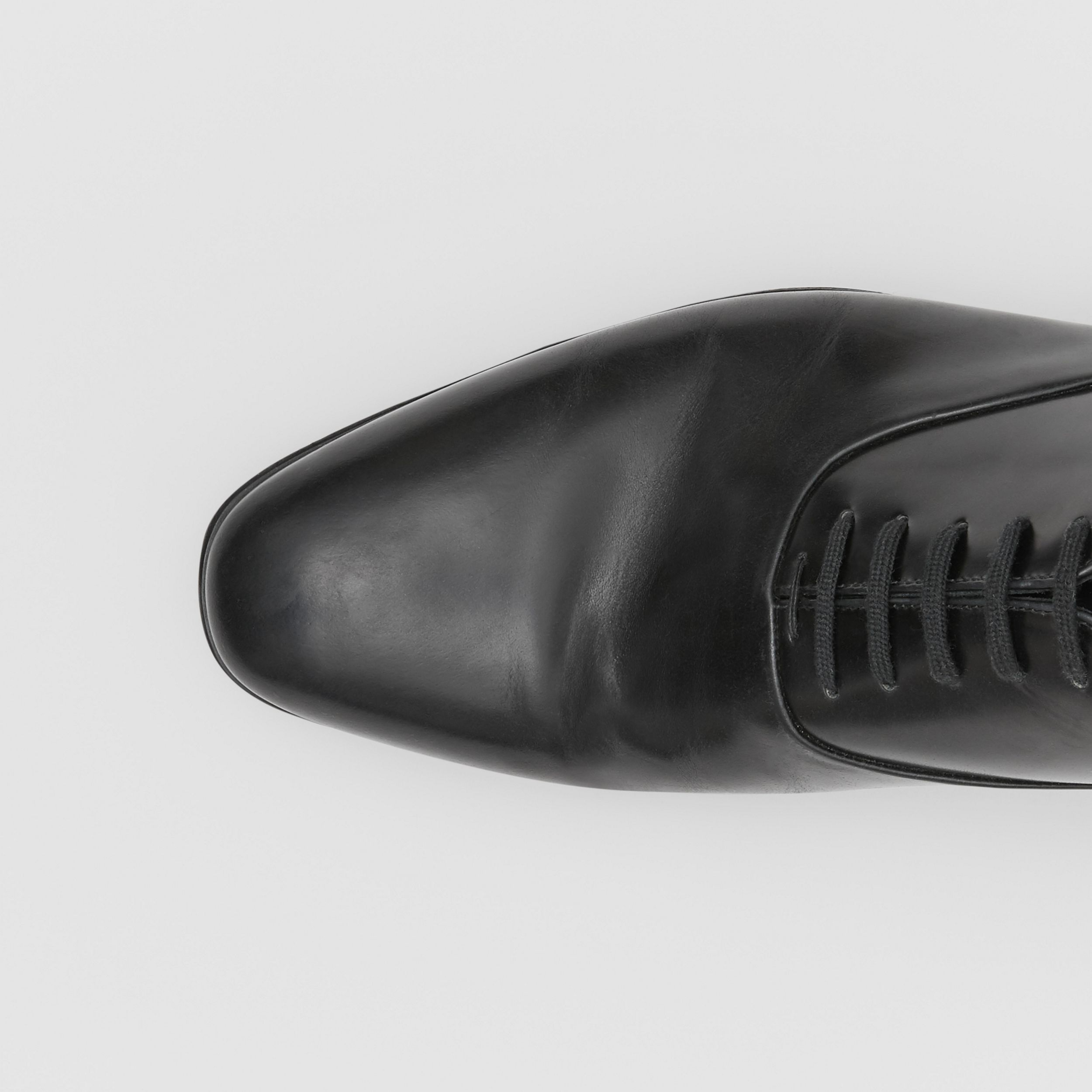 Leather Oxford Shoes in Black - Men | Burberry - 2
