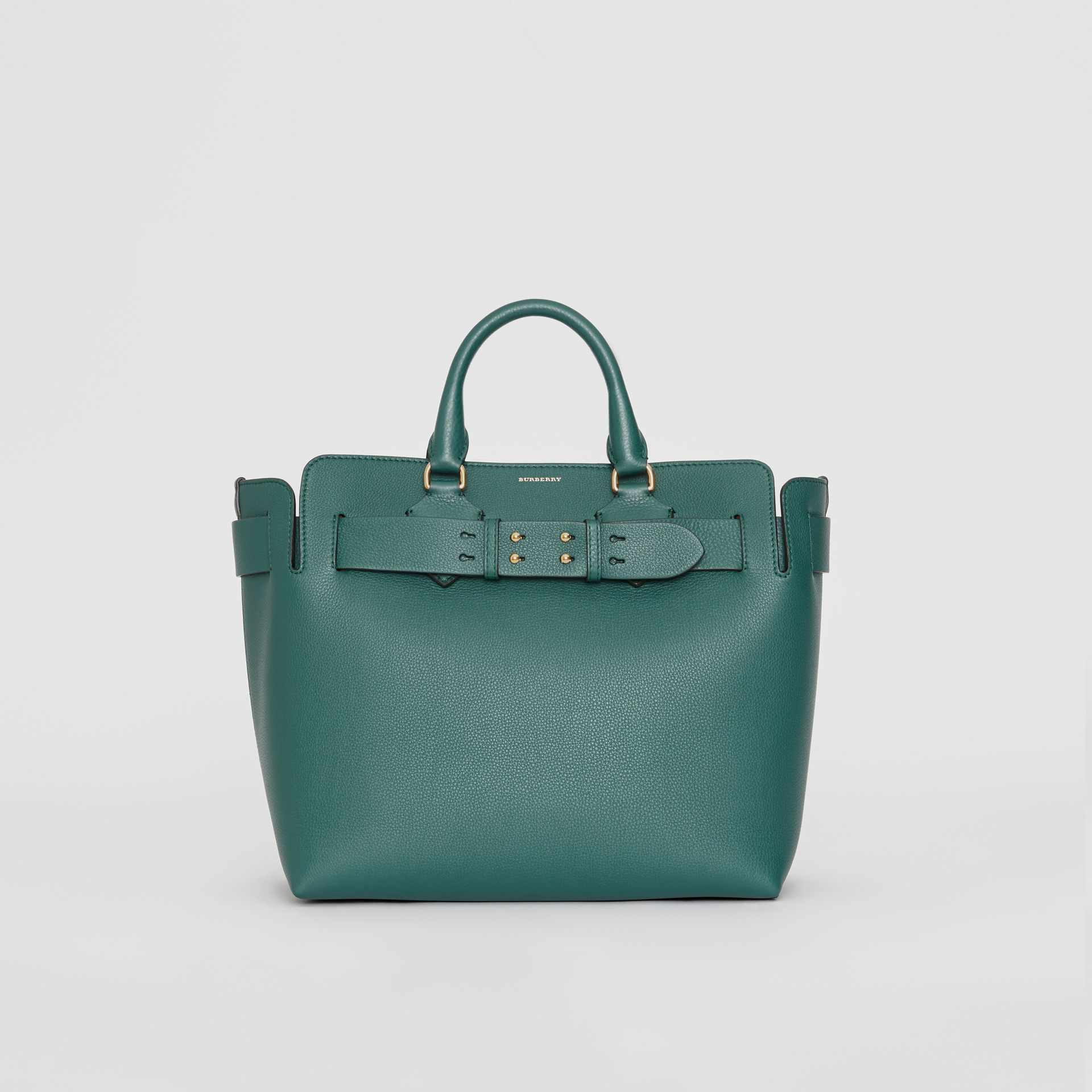 The Medium Leather Belt Bag in Dark Cyan - Women | Burberry United Kingdom - gallery image 0