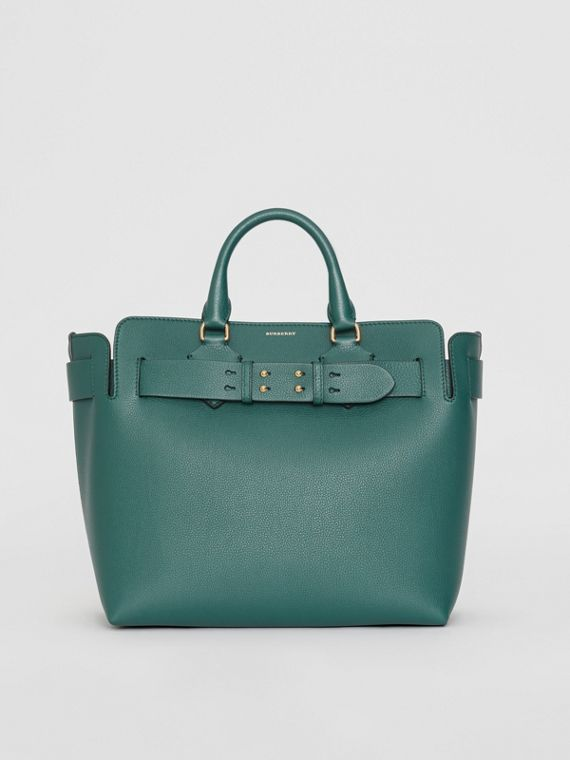 The Medium Leather Belt Bag in Dark Cyan