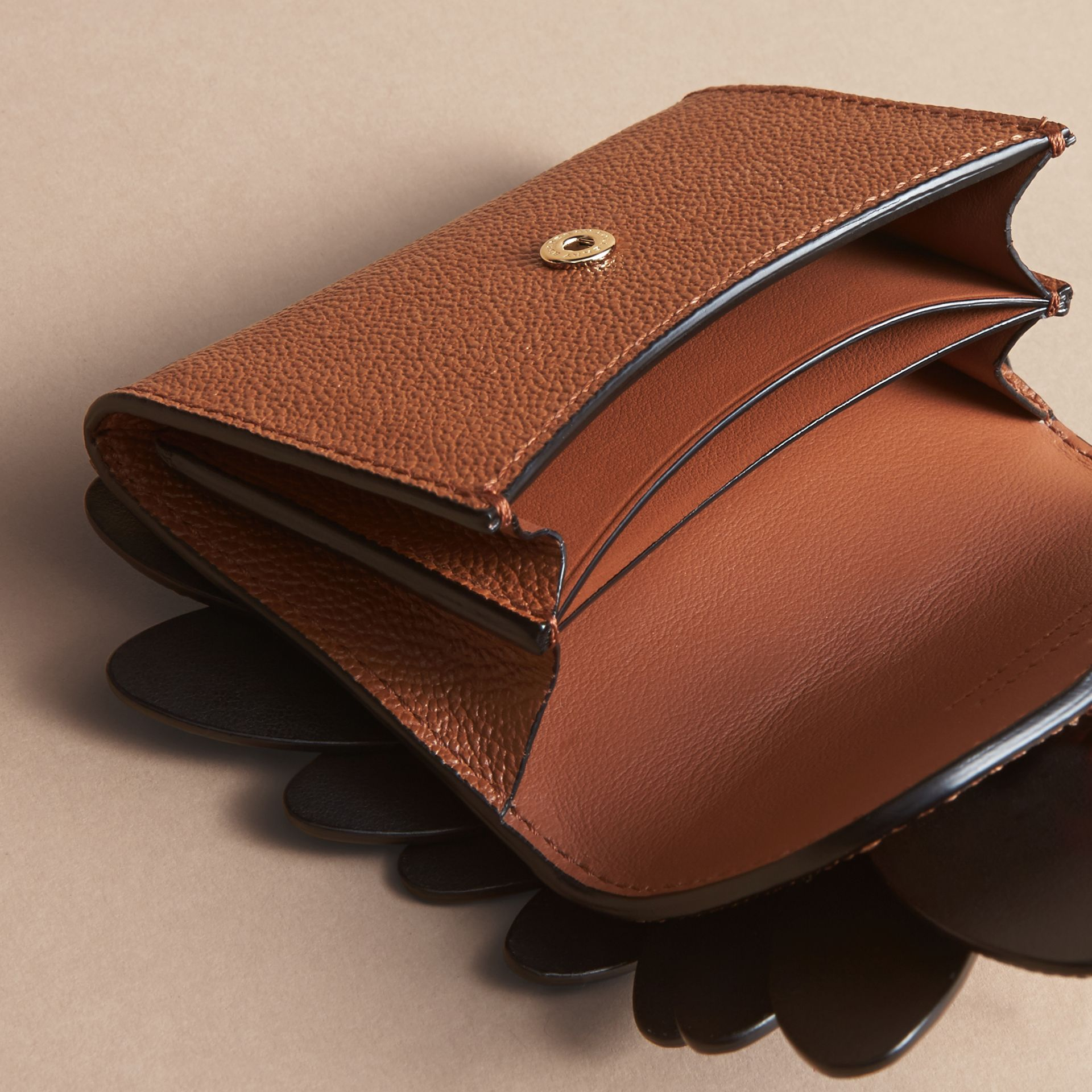 Snakeskin and Leather Appliqué Card Case in Bright Toffee - Women | Burberry Singapore - gallery image 4