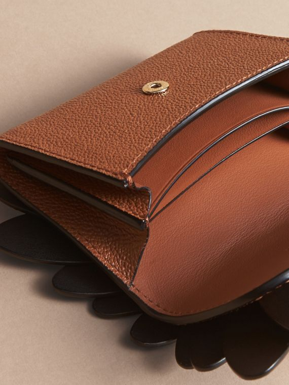 Snakeskin and Leather Appliqué Card Case in Bright Toffee - Women | Burberry - cell image 3