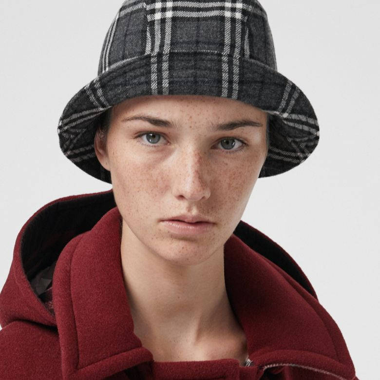 Burberry - Gosha x Burberry Check Flannel Bucket Hat - 3