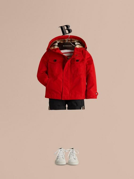 Rosso militare Giacca tecnica packaway con cappuccio Rosso Militare - cell image 2
