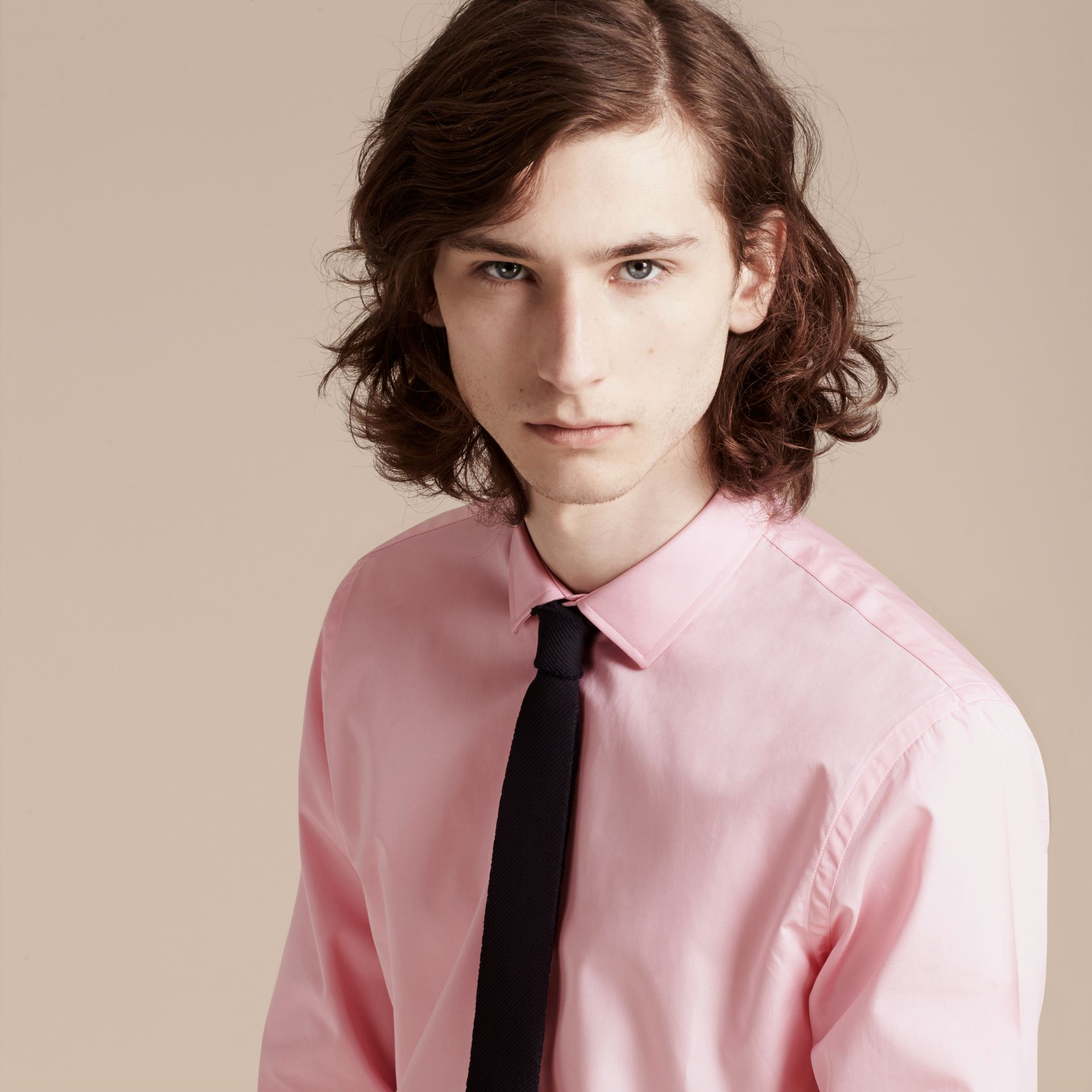 City pink Slim Fit Cotton Poplin Shirt - gallery image 5