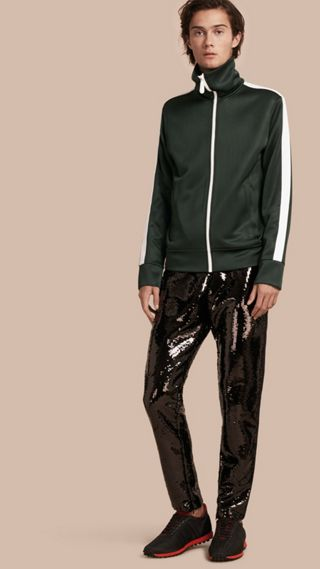 Sequin Track Pants