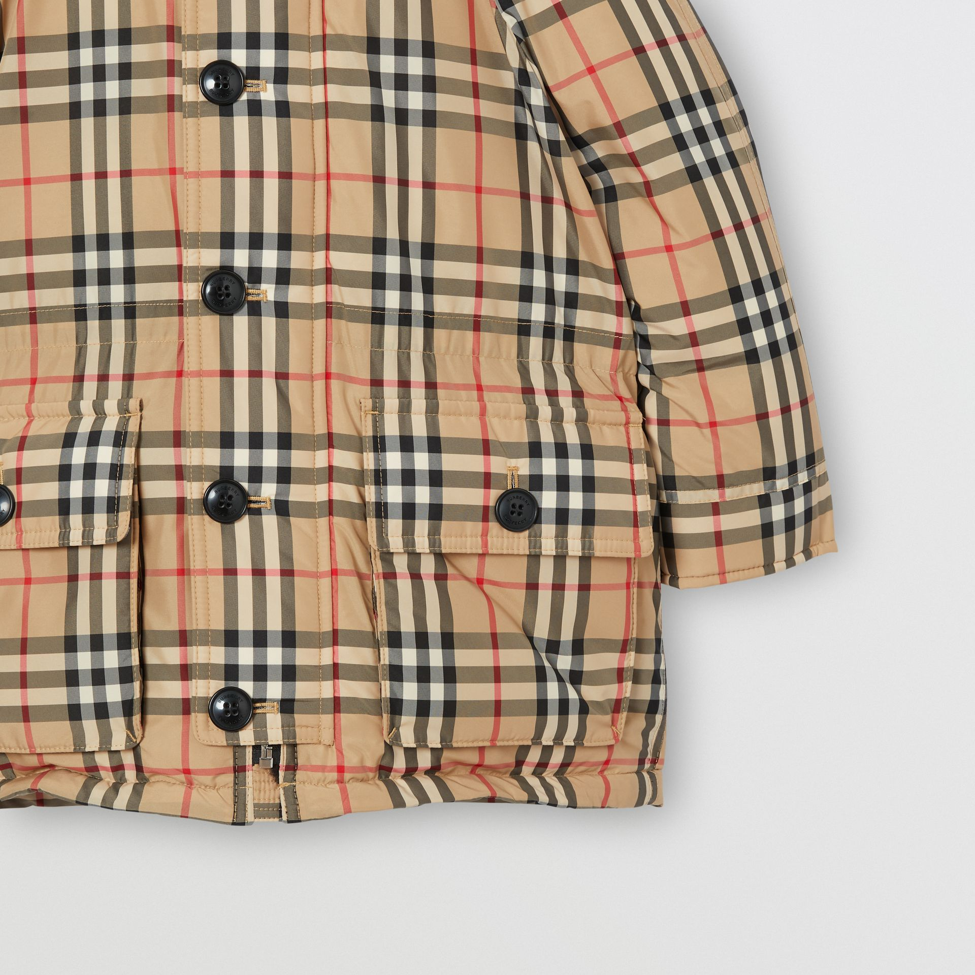 Vintage Check Down-filled Hooded Puffer Jacket in Archive Beige | Burberry - gallery image 5