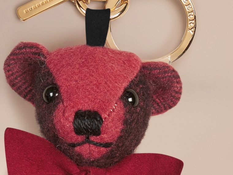 Thomas Bear Charm in Check Cashmere Blush Pink - cell image 1