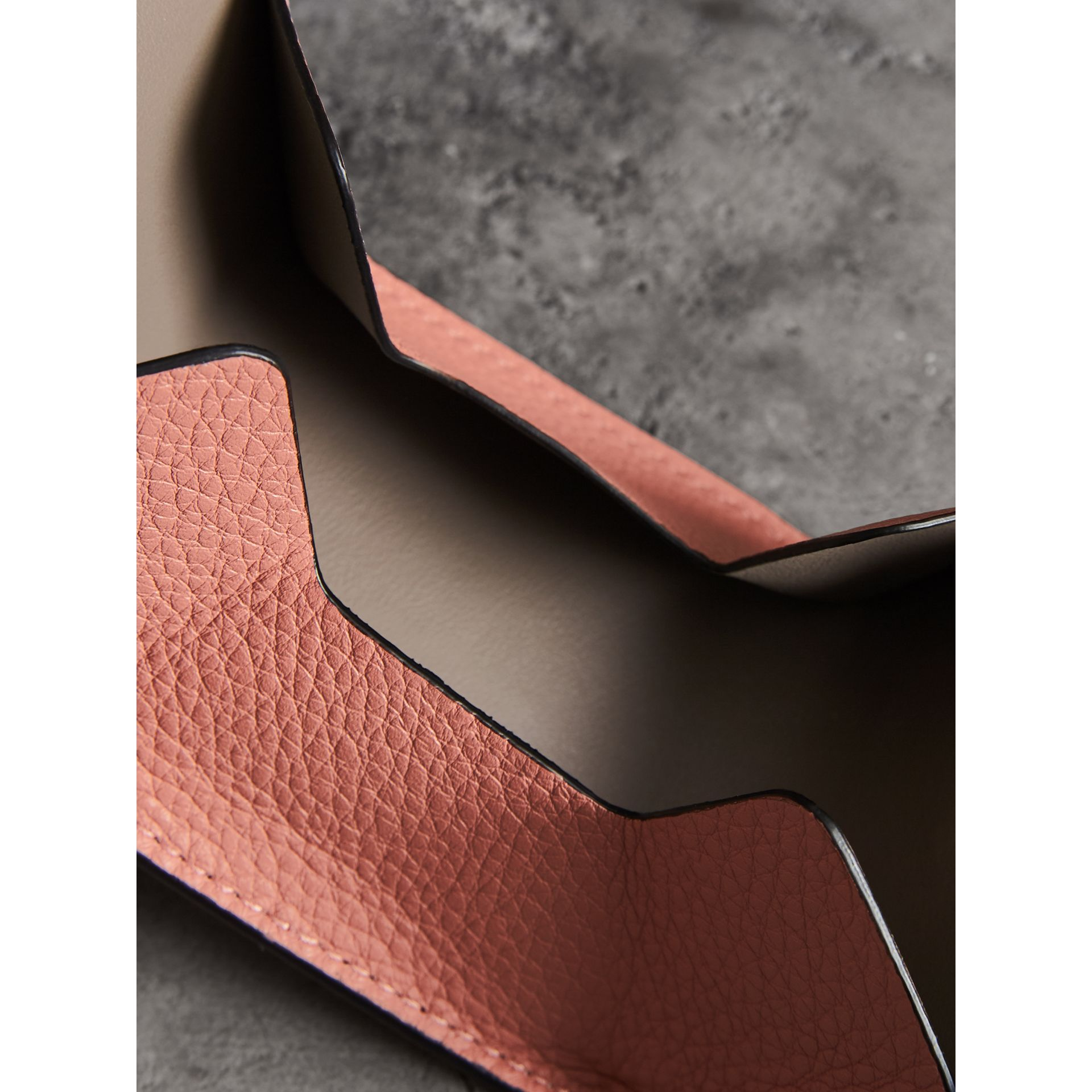 Small Square Leather Coin Case Charm in Dusty Rose/limestone - Women | Burberry - gallery image 3