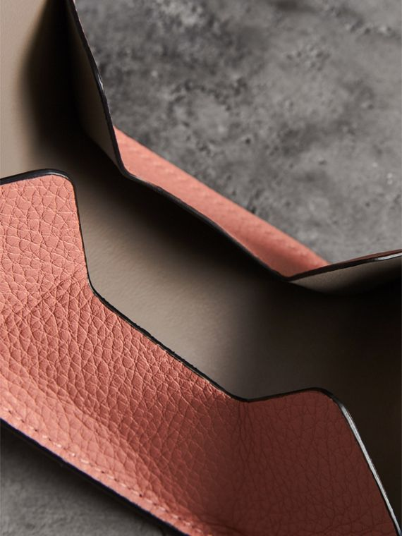 Small Square Leather Coin Case Charm in Dusty Rose/limestone - Women | Burberry - cell image 3
