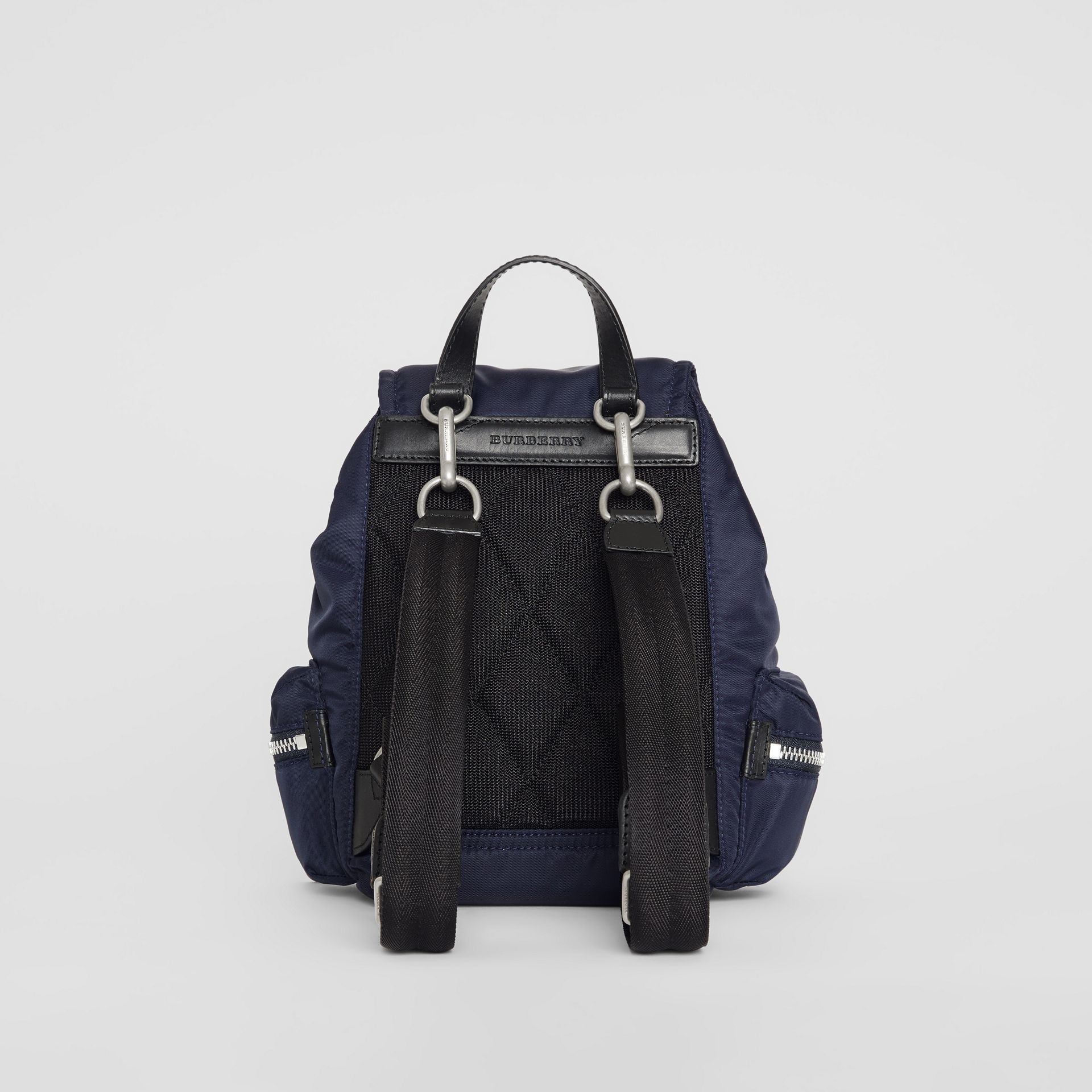 The Small Crossbody Rucksack in Puffer Nylon in Ink Blue - Women | Burberry Canada - gallery image 8