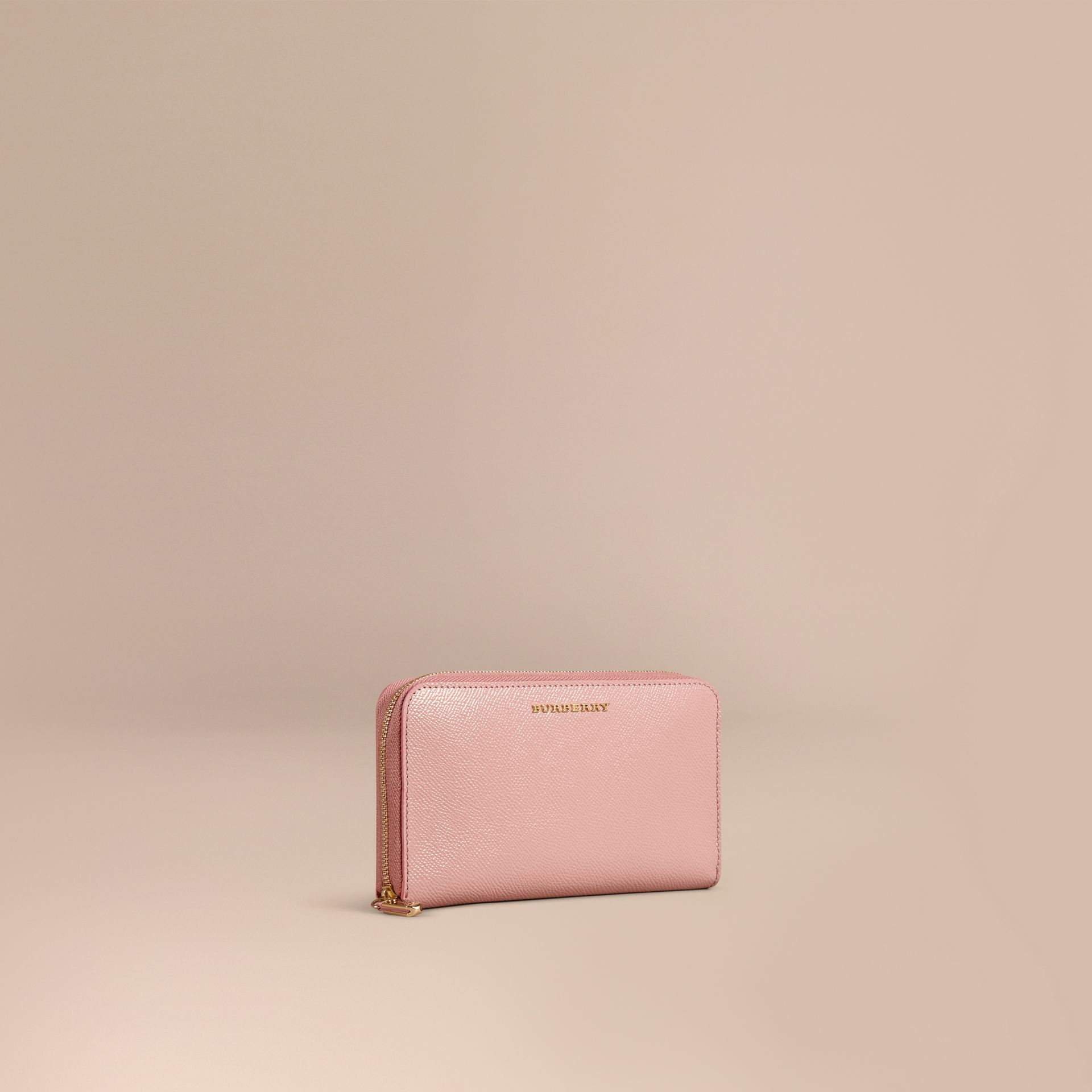 Ash rose Patent London Leather Ziparound Wallet Ash Rose - gallery image 1