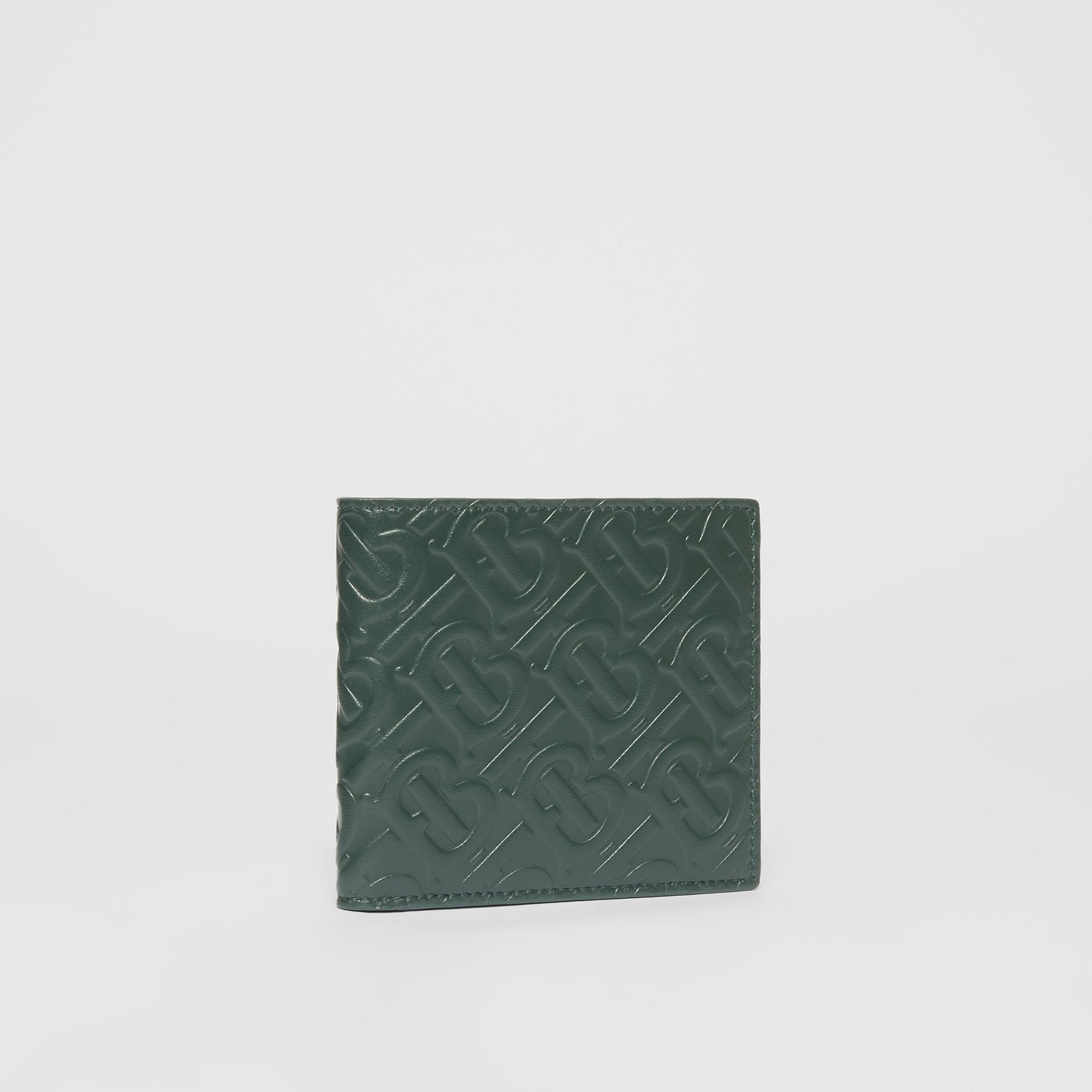 Monogram Leather International Bifold Wallet in Dark Pine Green - Men | Burberry - gallery image 3