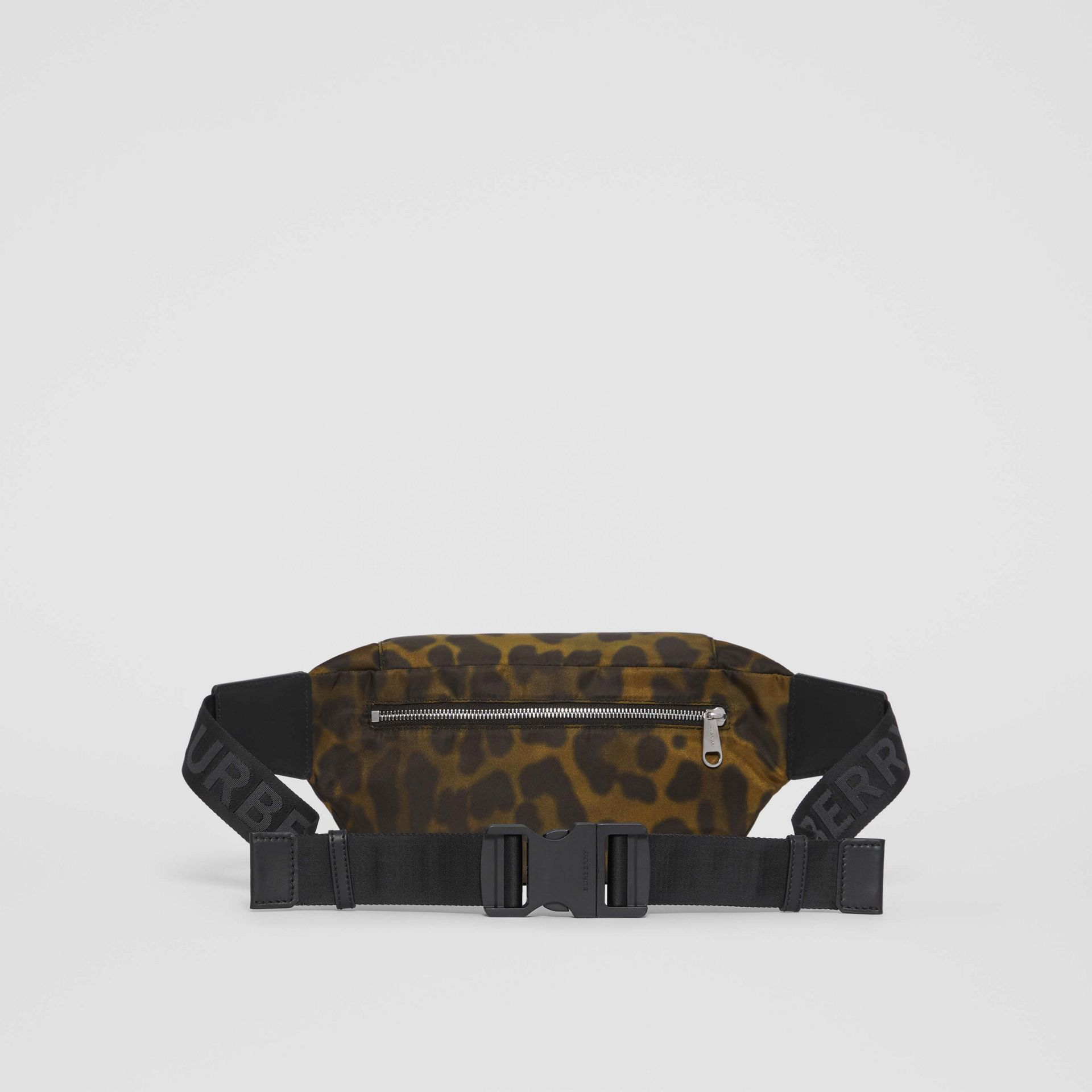Medium Animal Print Bum Bag in Khaki Green - Men | Burberry - gallery image 9