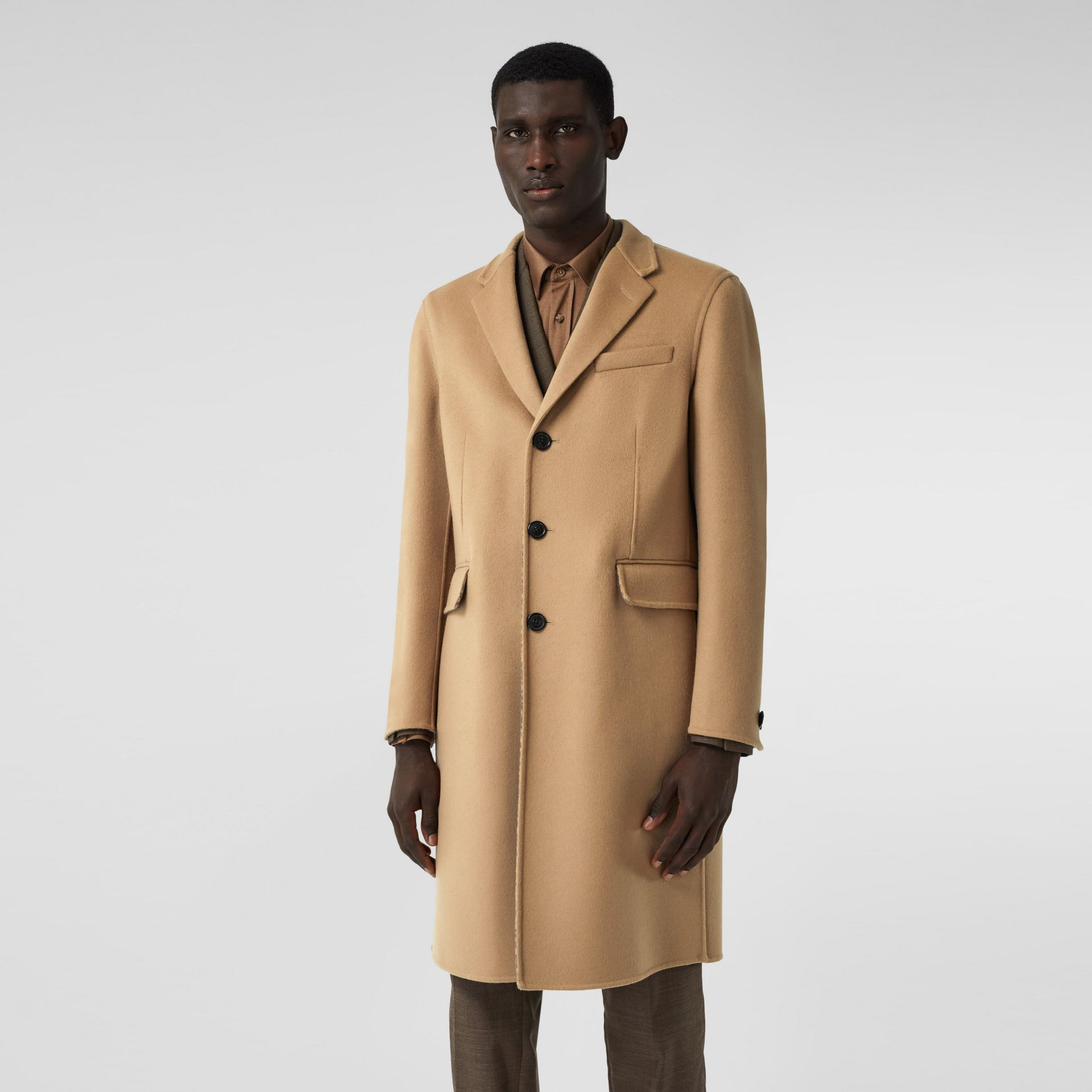 Double-faced Wool Tailored Coat in Soft Fawn/mid Grey Melange - Men | Burberry - gallery image 6