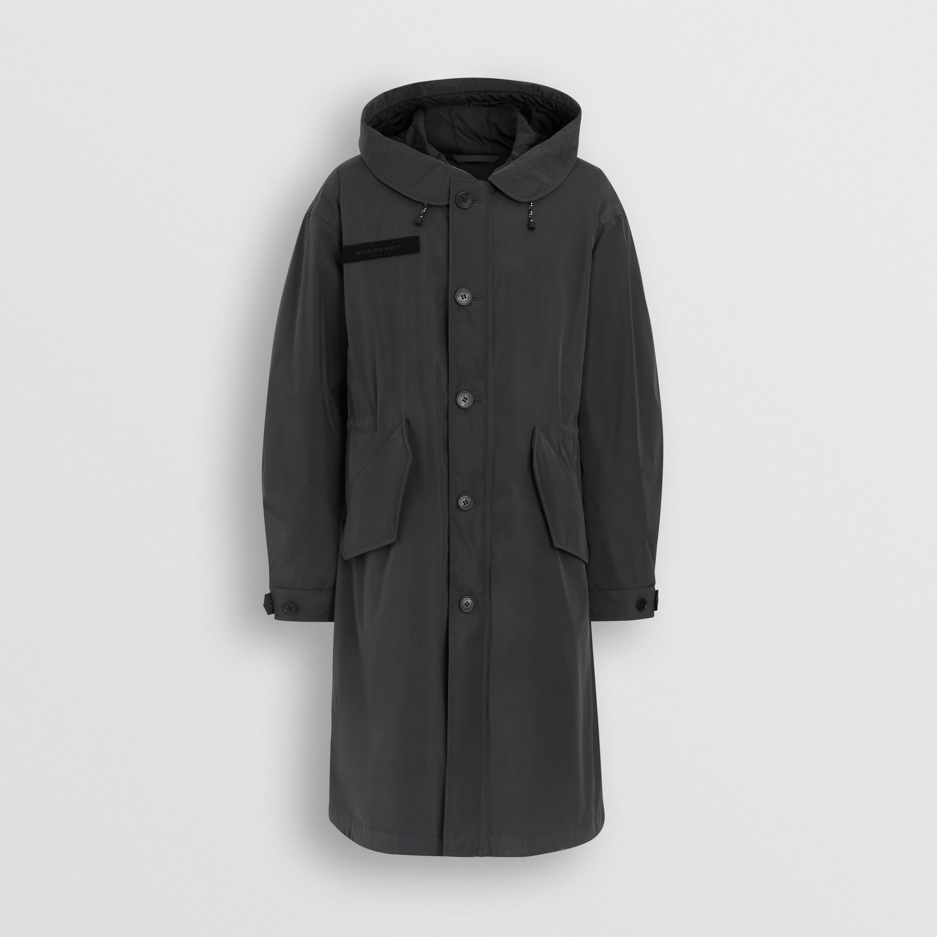 Quilt-lined Technical Nylon Parka in Dark Charcoal - Men | Burberry - gallery image 3