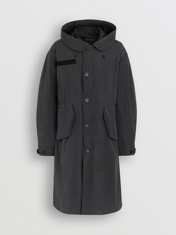 Quilt-lined Technical Nylon Parka in Dark Charcoal - Men | Burberry Hong Kong - cell image 3
