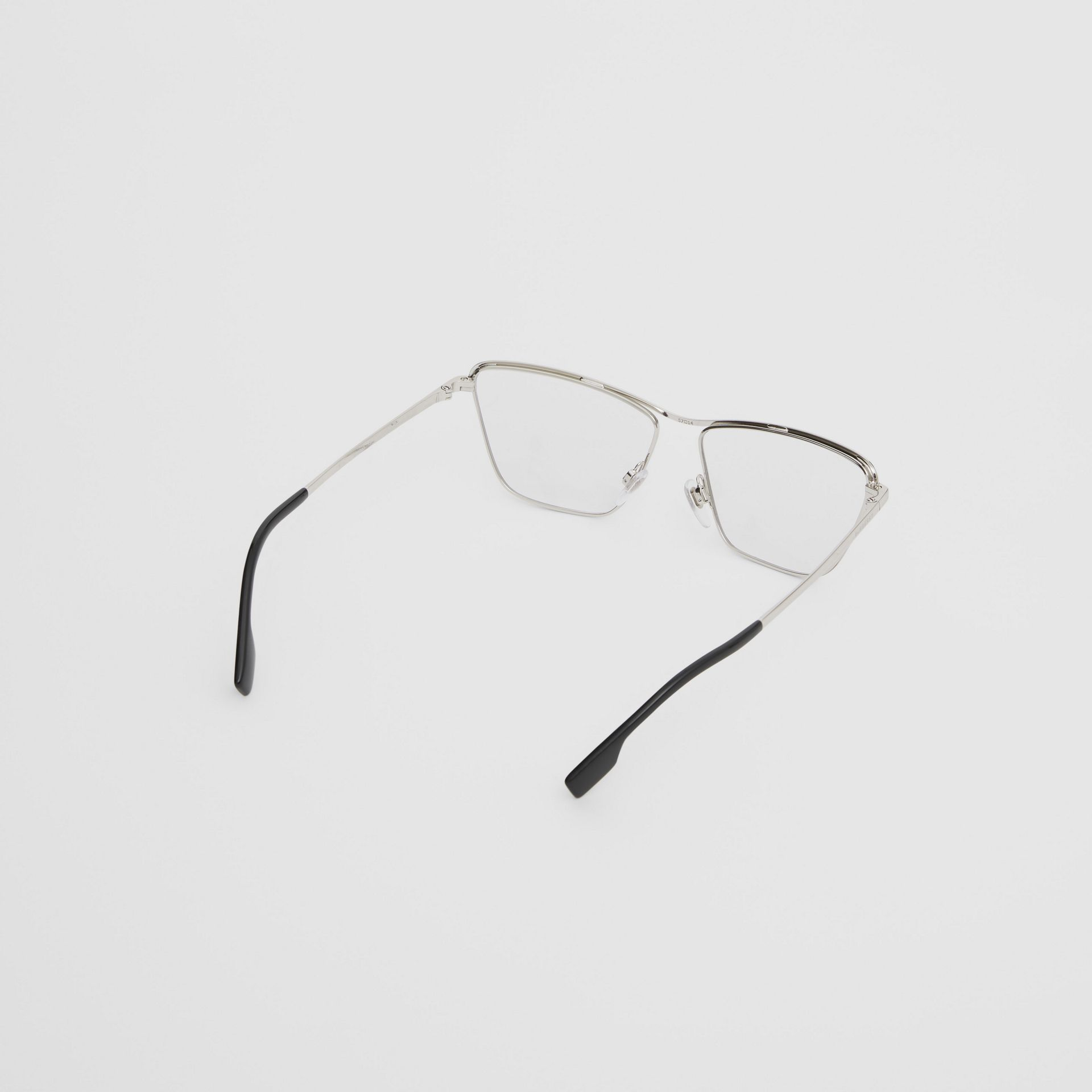 Rectangular Optical Frames in Silver - Women | Burberry - gallery image 3