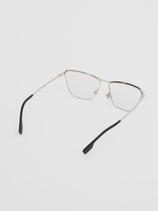 Rectangular Optical Frames in Silver - Women | Burberry United Kingdom - cell image 3