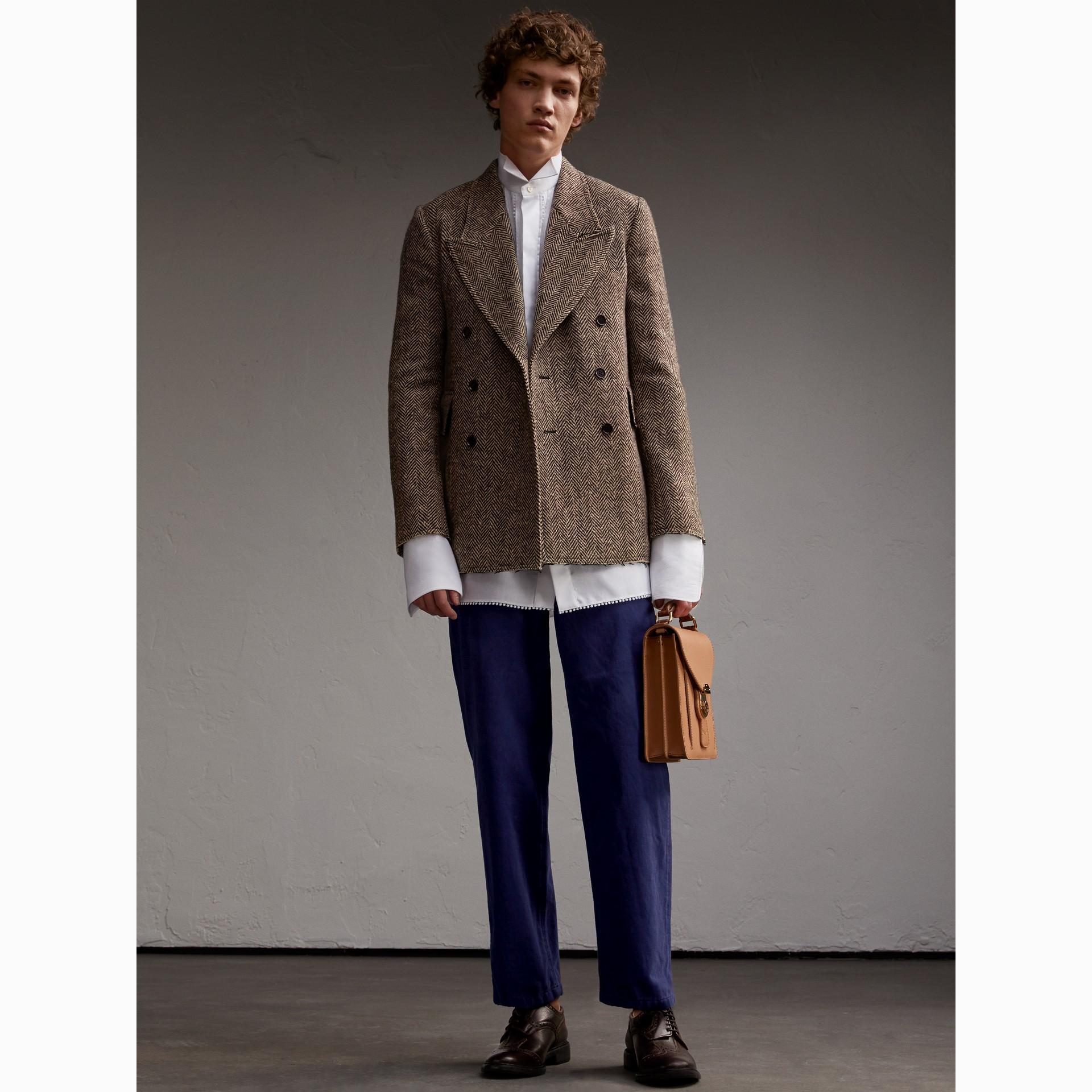 Donegal Herringbone Wool Tweed Blazer - Men | Burberry - gallery image 7