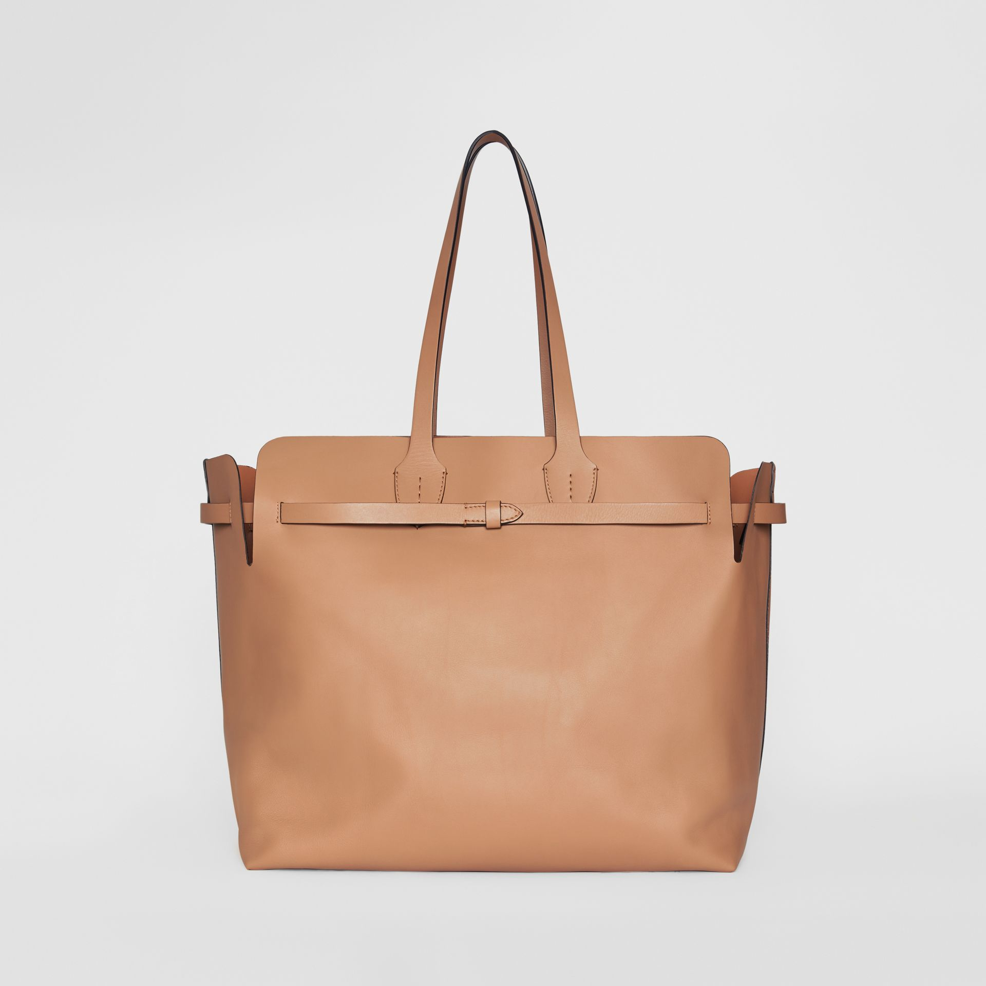 The Large Soft Leather Belt Bag in Light Camel - Women | Burberry - gallery image 7