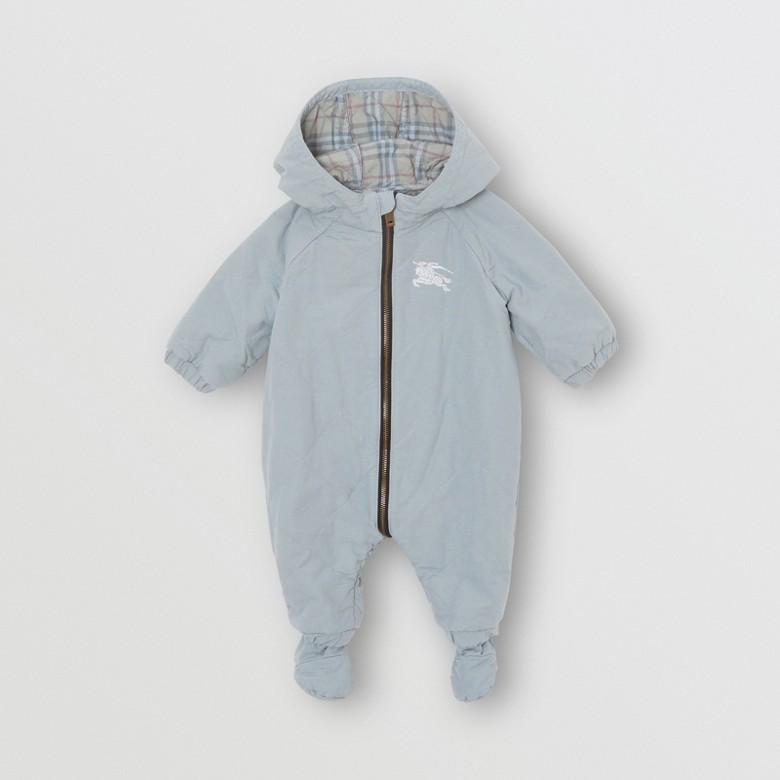 Burberry - Mono enterizo en algodón acolchado a rombos - 1