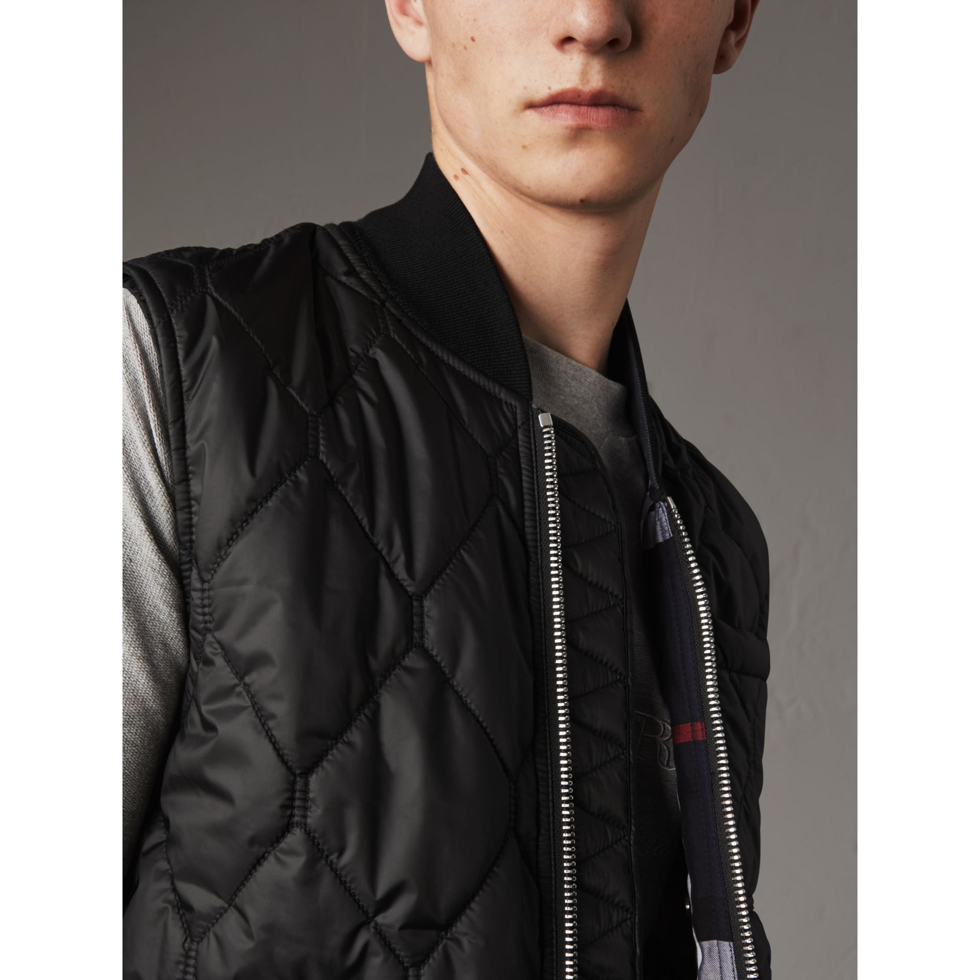 Diamond Quilted Gilet in Black - Men | Burberry Singapore - gallery image 2