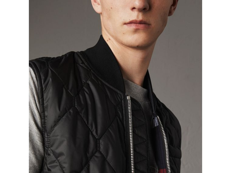 Diamond Quilted Gilet in Black - Men | Burberry - cell image 1