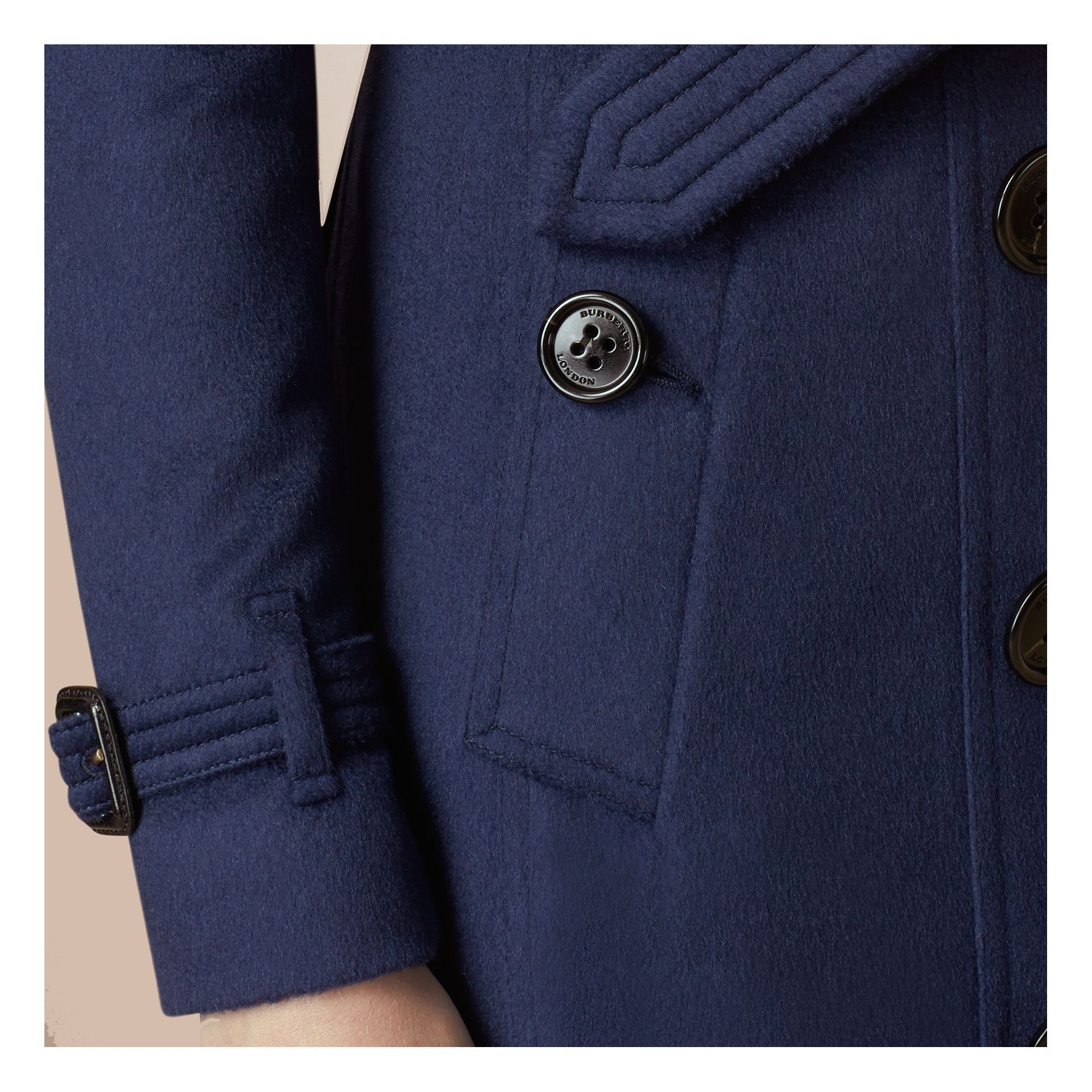 Empire blue Sandringham Fit Cashmere Trench Coat Empire Blue - gallery image 4