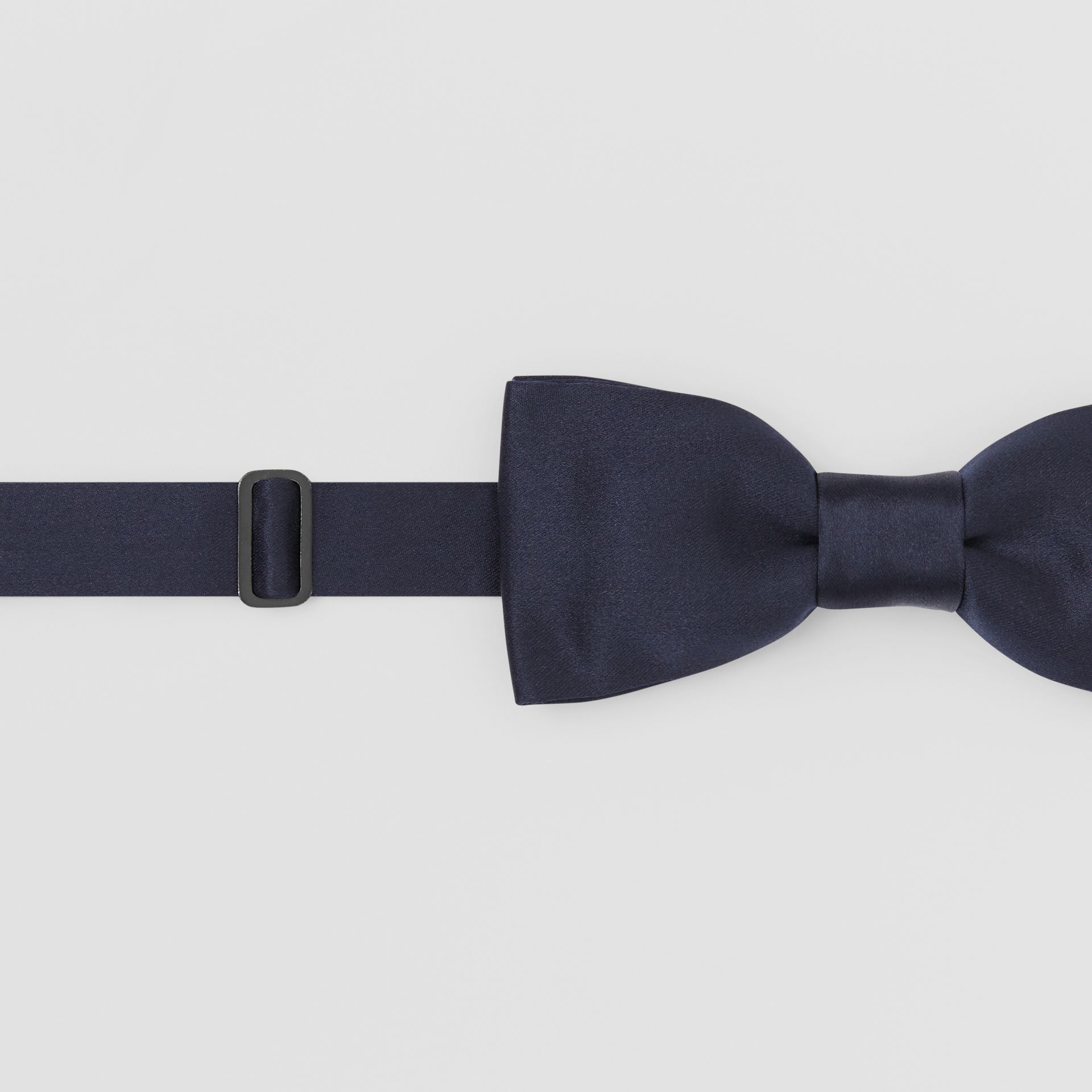 Silk Satin Bow Tie in Navy - Men | Burberry - gallery image 1