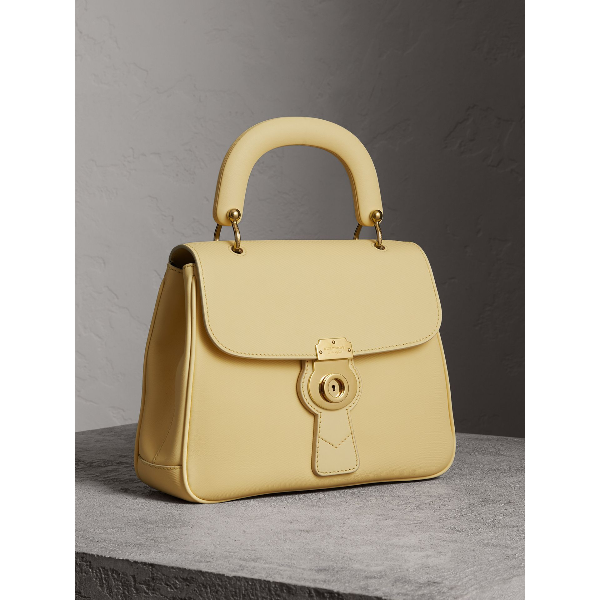 The Medium DK88 Top Handle Bag in Camomile Yellow - Women | Burberry - gallery image 7
