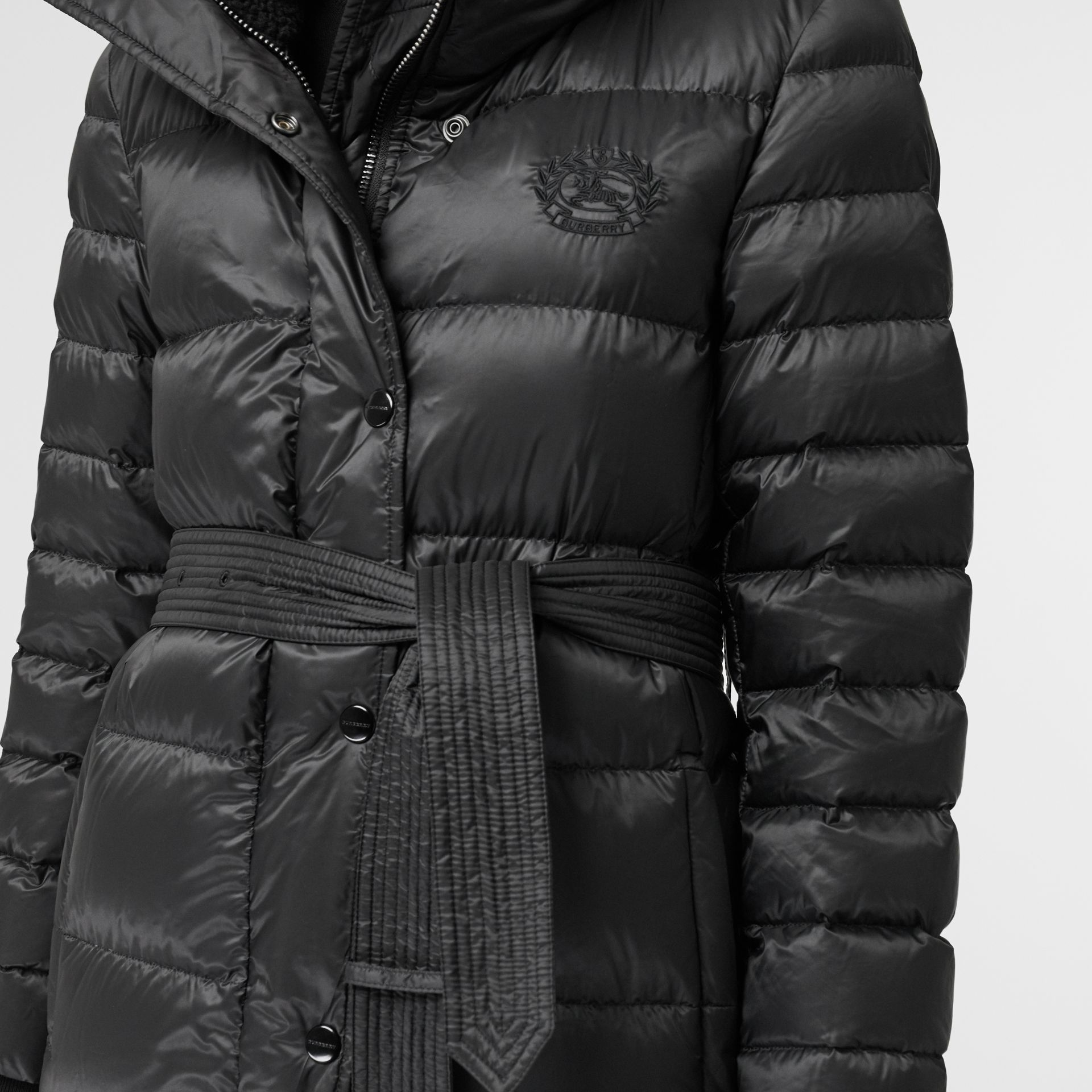 Down-filled Hooded Puffer Coat in Black - Women | Burberry United Kingdom - gallery image 1