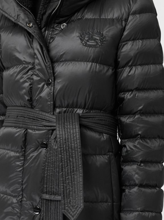 Down-filled Hooded Puffer Coat in Black - Women | Burberry Canada - cell image 1