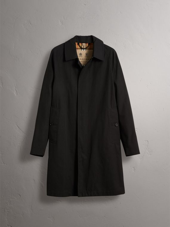 The Camden – Long Car Coat in Black - Men | Burberry Canada - cell image 3