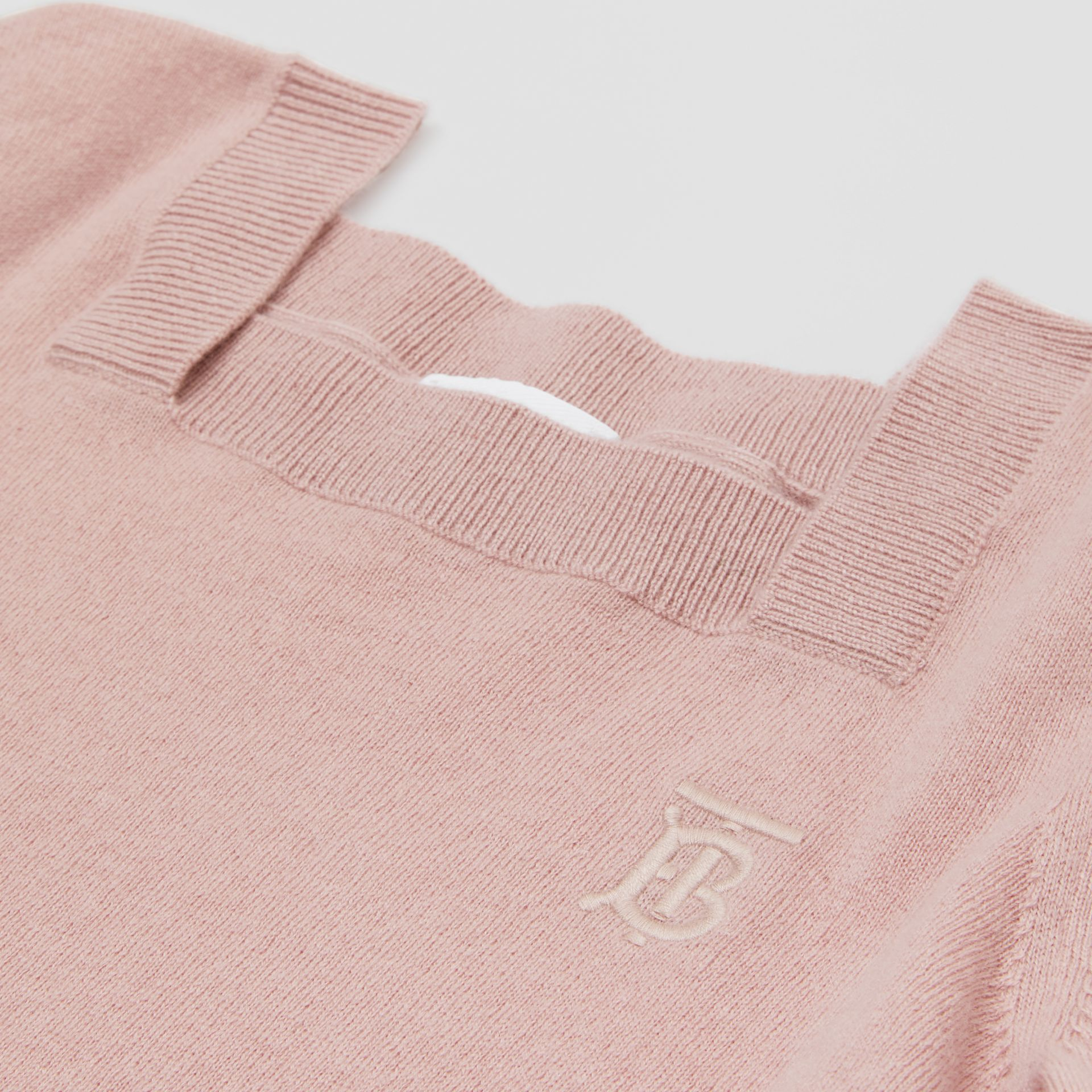 Monogram Motif Cashmere Sweater in Lavender Pink | Burberry United Kingdom - gallery image 1