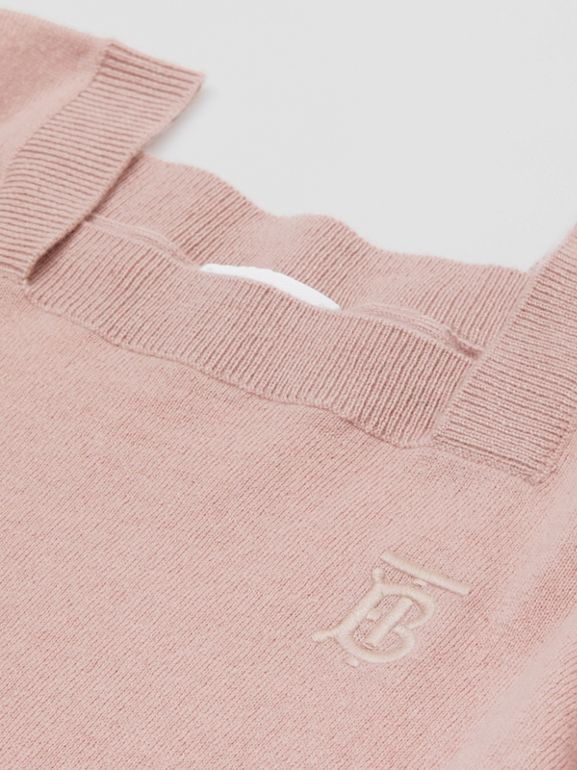 Monogram Motif Cashmere Sweater in Lavender Pink | Burberry - cell image 1