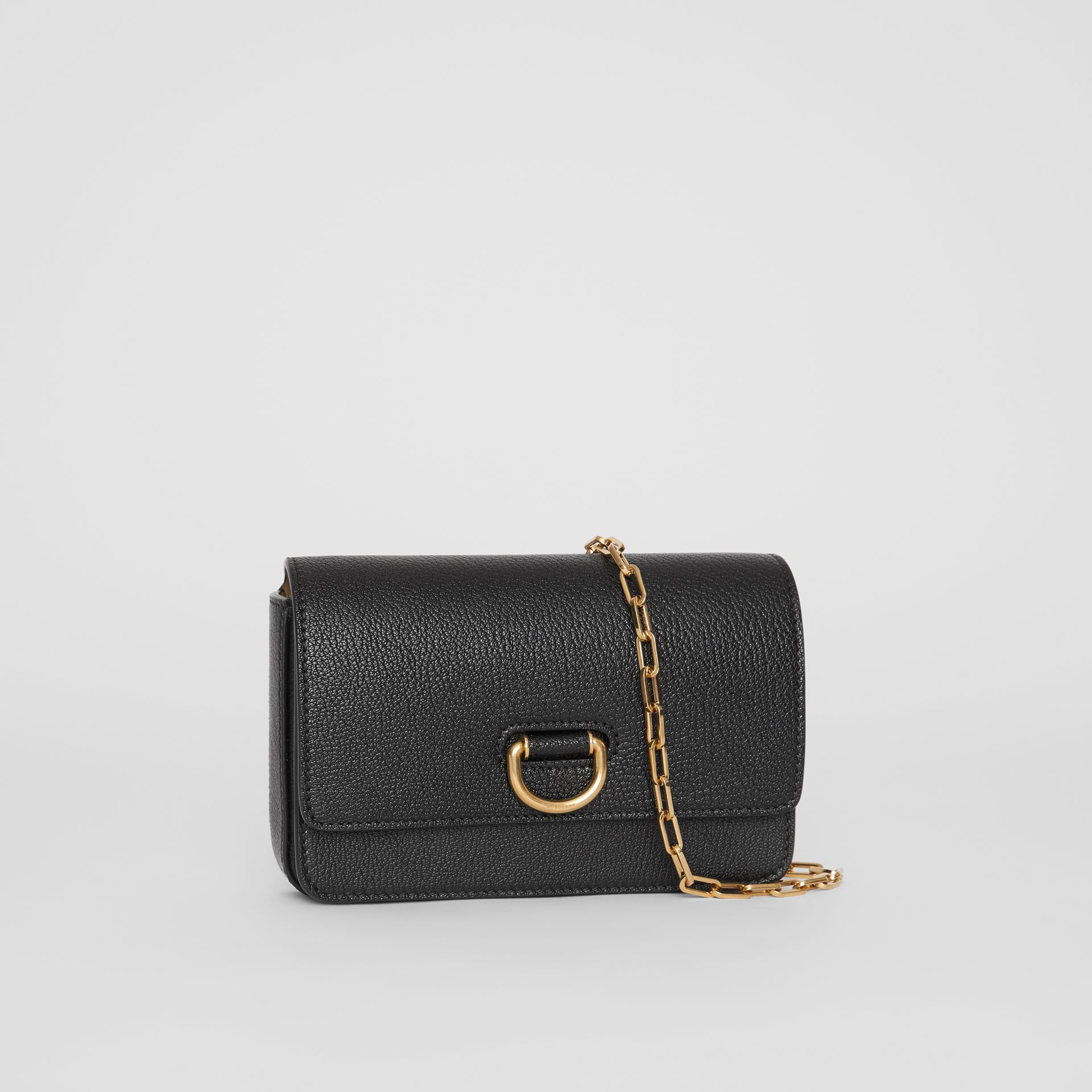 The Mini Leather D-ring Bag in Black - Women | Burberry United States - gallery image 4