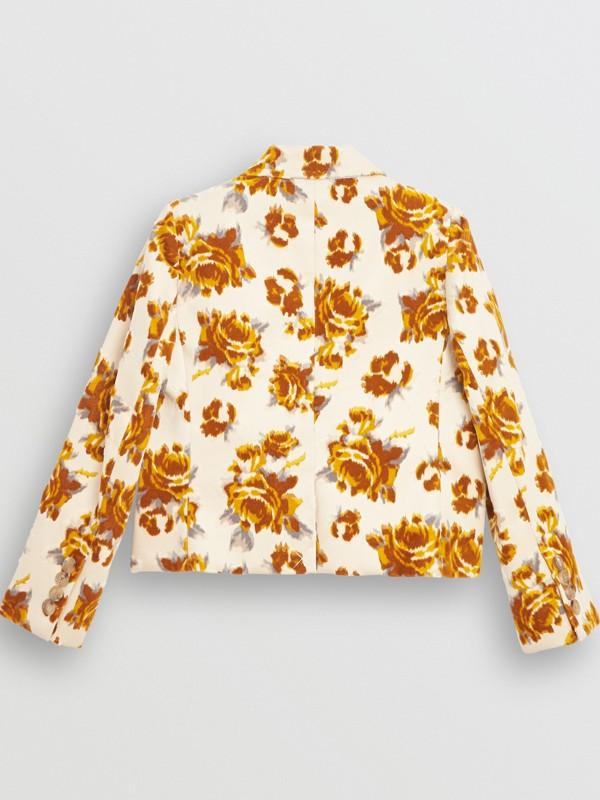 Floral Velvet Jacquard Blazer in Mustard Pattern | Burberry - cell image 3