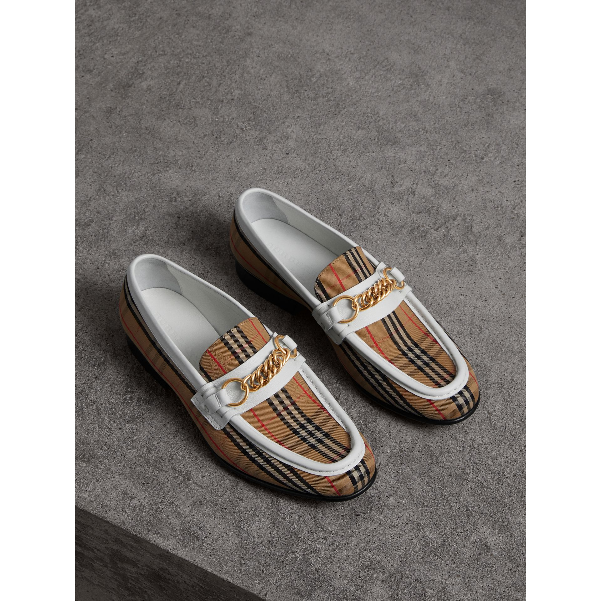The 1983 Check Link Loafer in Off White - Women | Burberry United Kingdom - gallery image 4