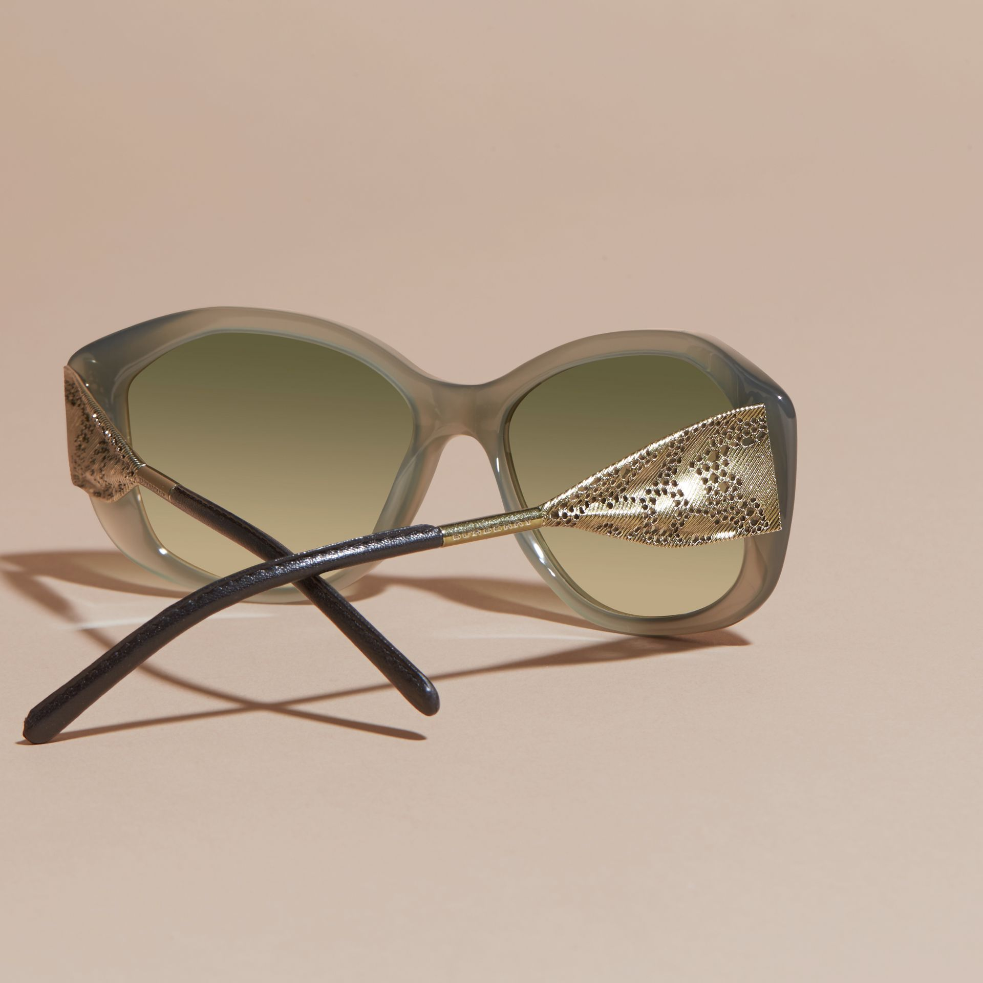 Opal green Gabardine Lace Collection Square Frame Sunglasses Opal Green - gallery image 4